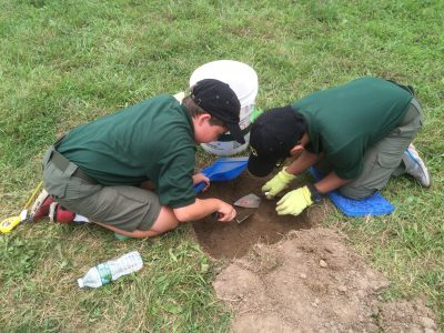 Scouts digging