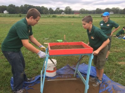 Boy Scouts helping in 2016