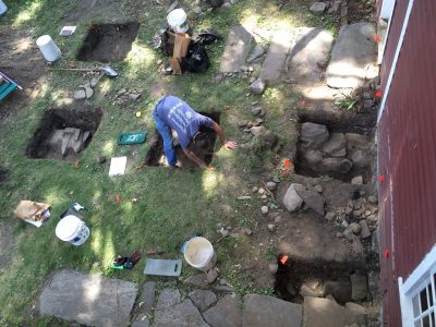 Excavation at the David Humphreys House, Ansonia